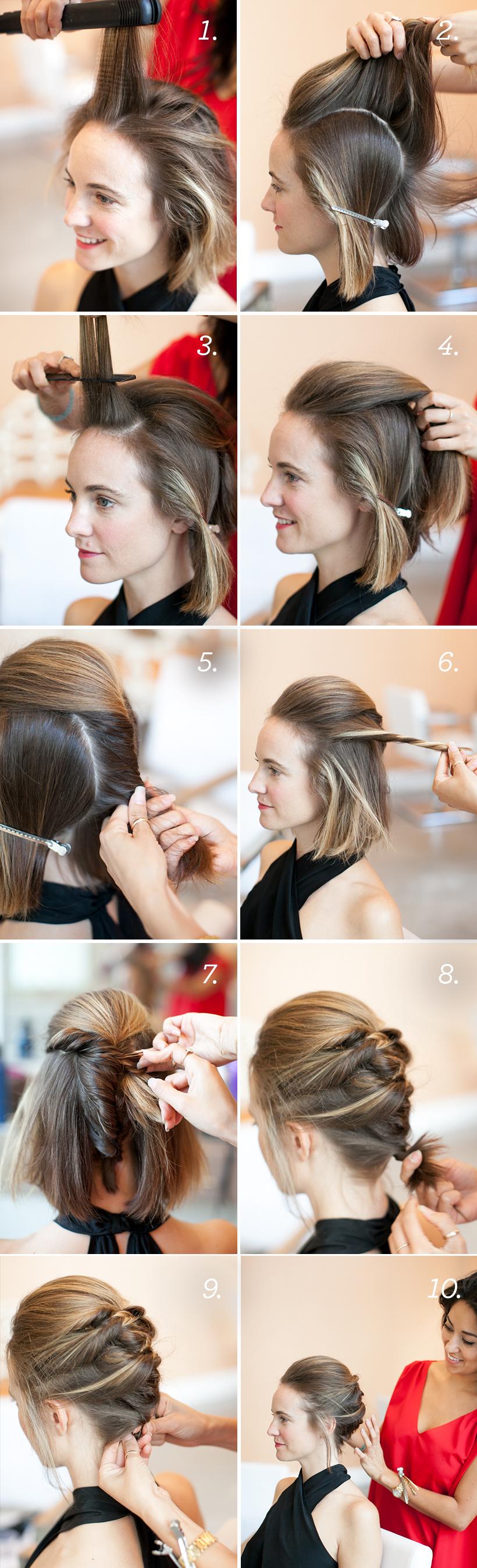 Как для коротких волос сделать прическу на бок