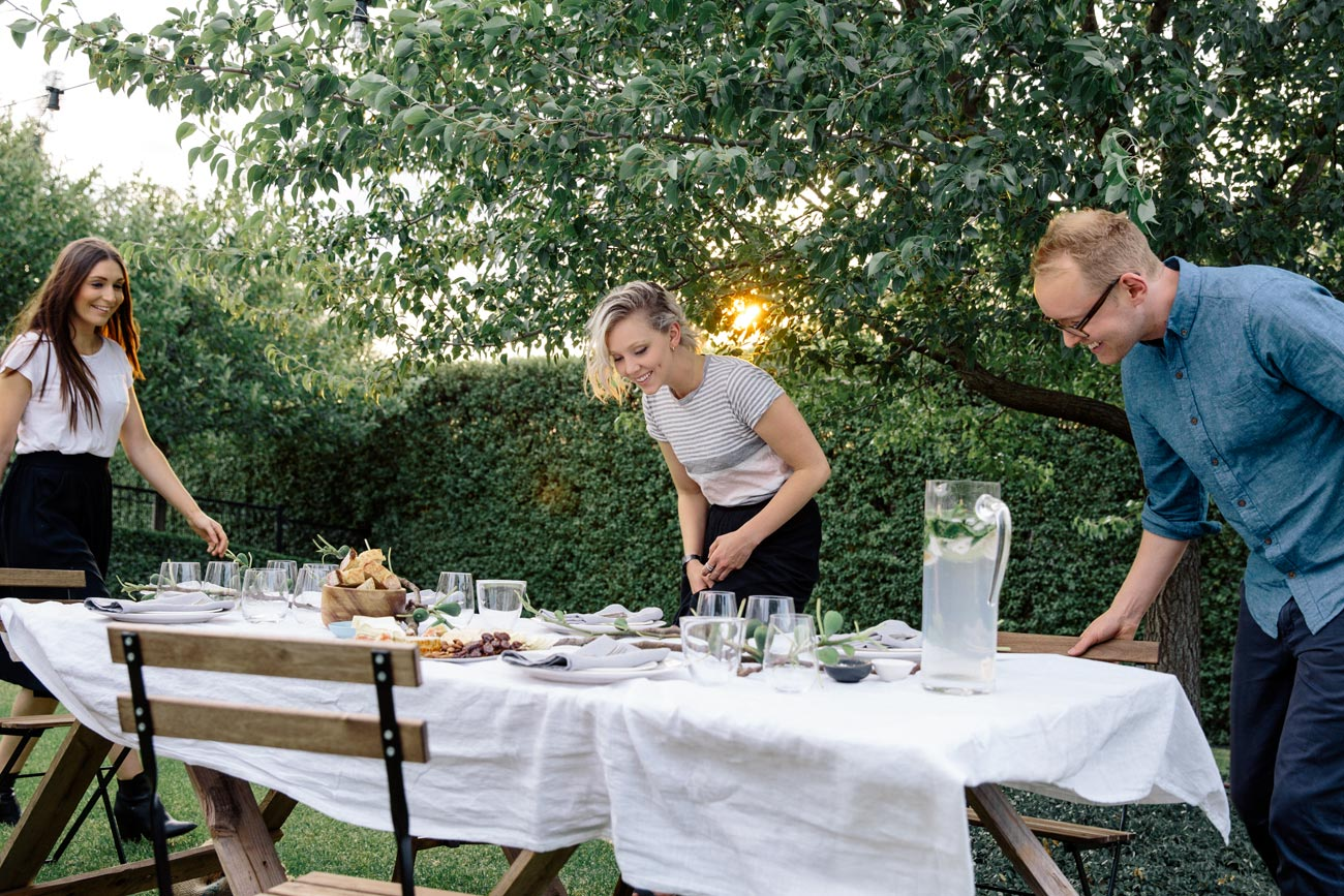 guests admiring table setting