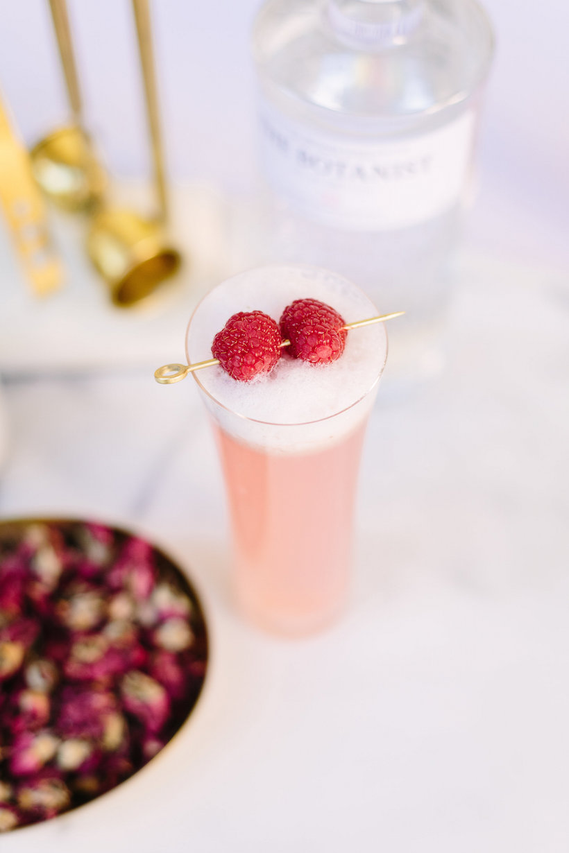 Raspberry Rose Cocktail for Valentine's Day