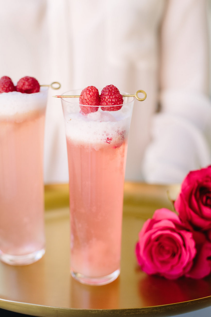 Raspberry Rose Cocktail for Valentines Day