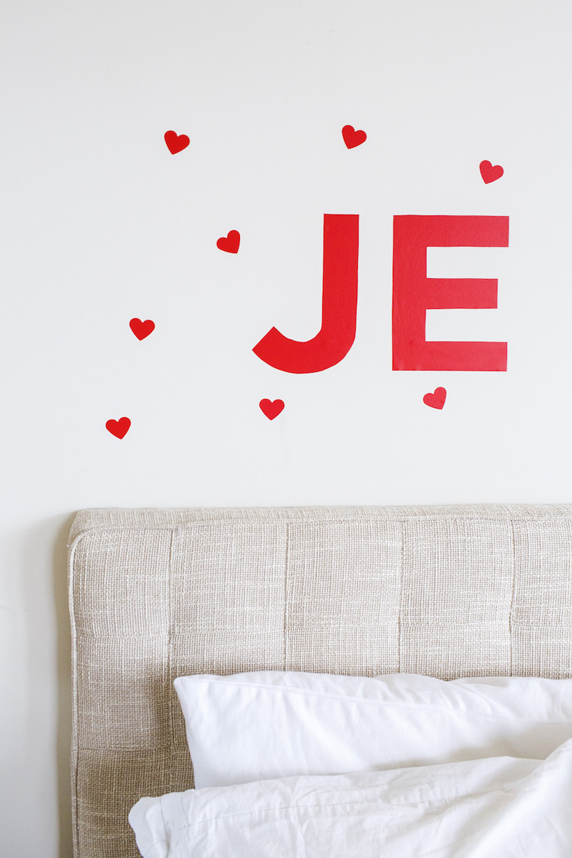DIY Valentine's Wall Decal