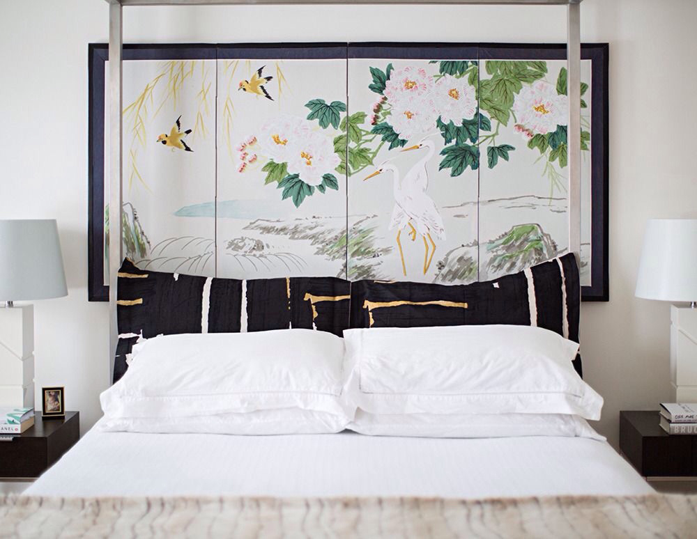 How to fake a headboard camille styles for Fake headboard