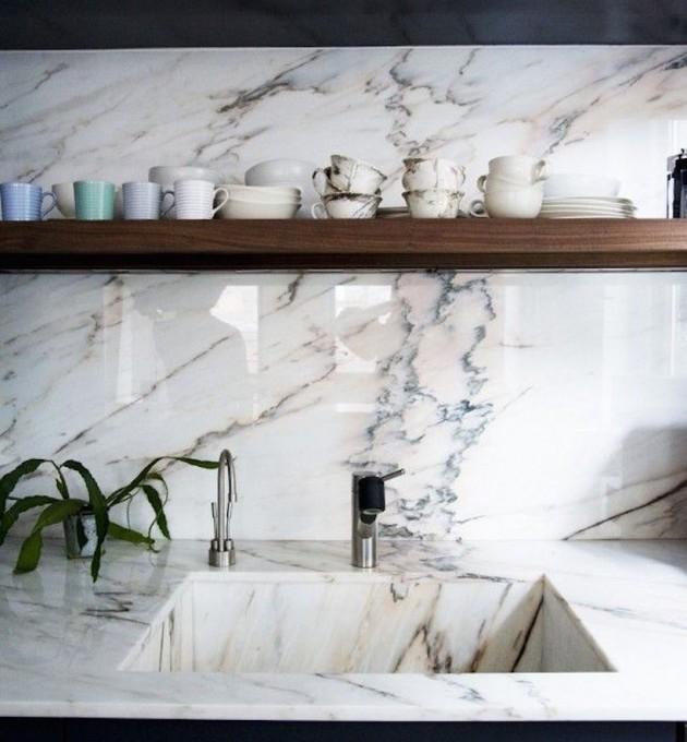 marble backsplash