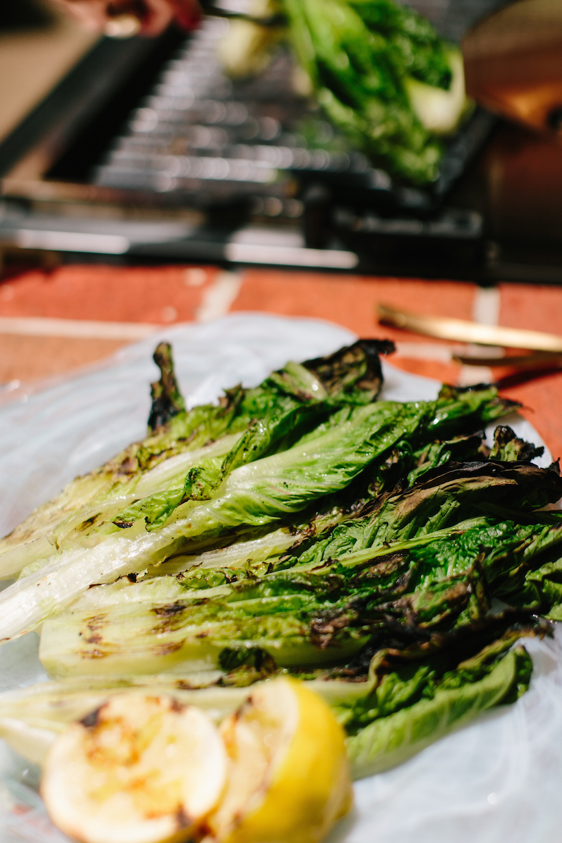 Grilled Caesar Salad - Camille Styles