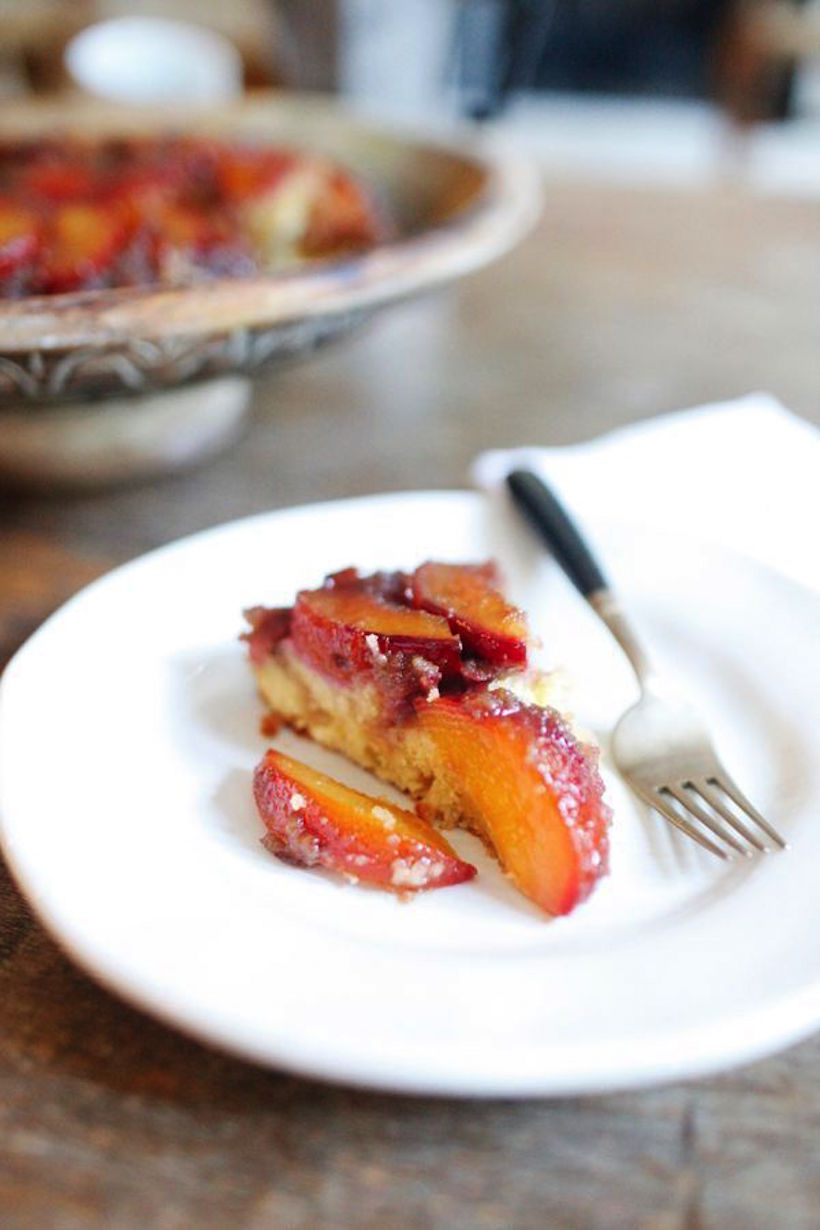Plum Upside Down Cake - Camille Styles