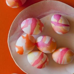 watercolor Easter eggs