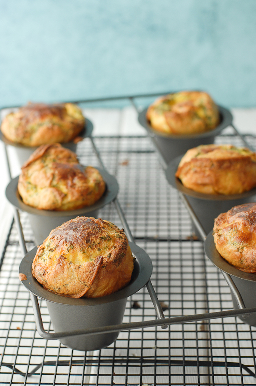 Gluten-Free Spring Lemon-Herb Popovers from Boulder Locavore
