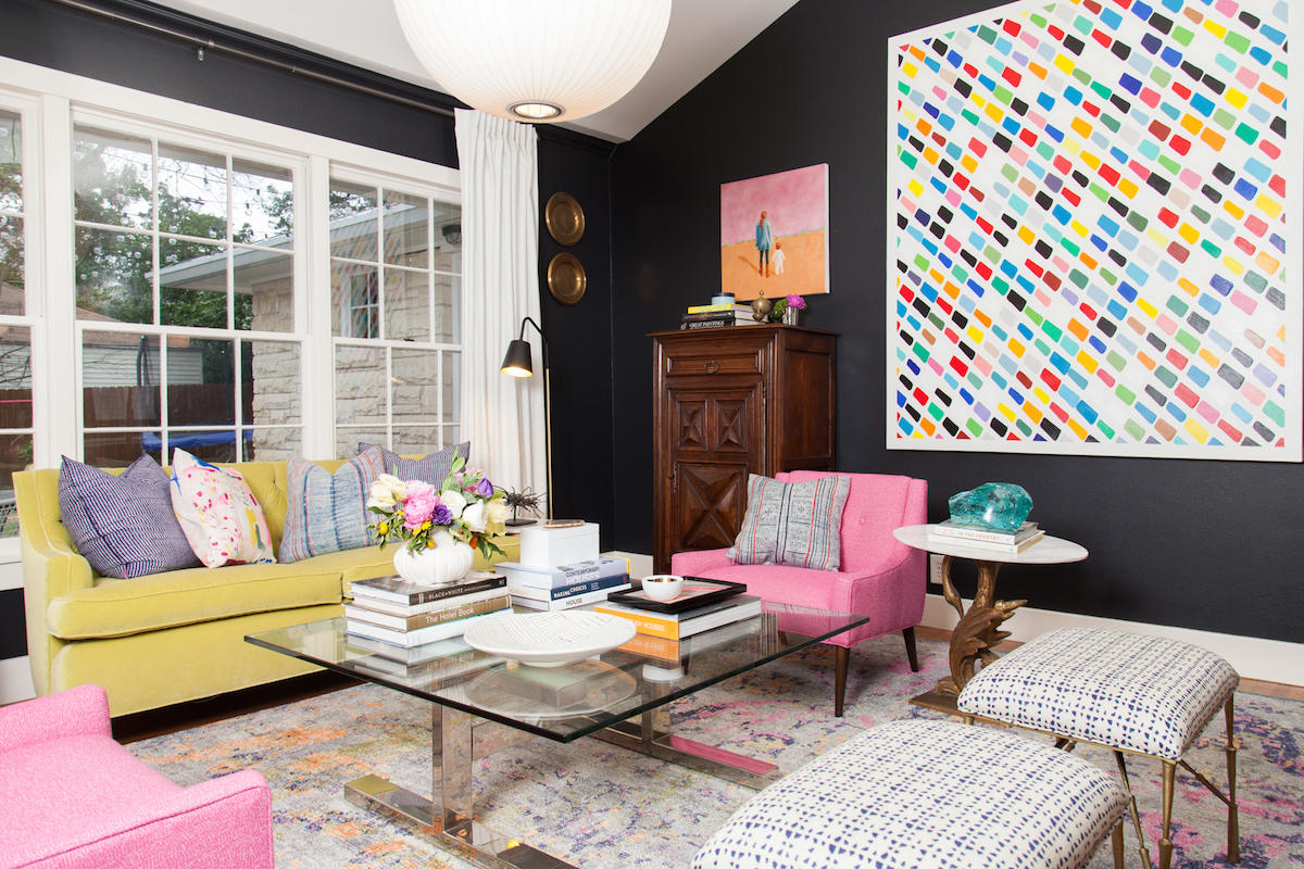 colorful, bold interiors