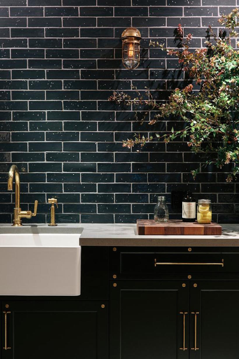 Black Subway Tile Camille Styles