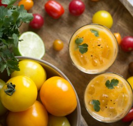 orange tomato bloody mary with celery bitters