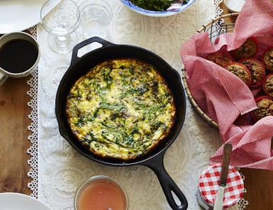 Pesto & Goat Cheese Frittata Recipe