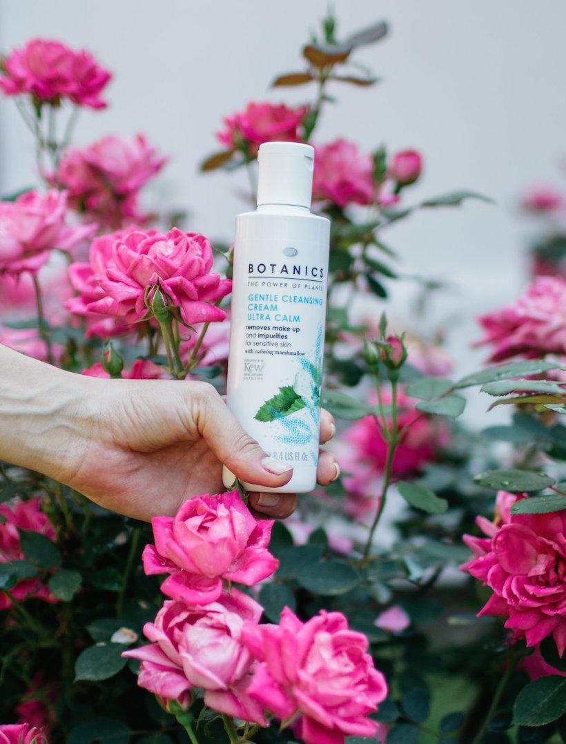 boots botanical-based skincare, roses