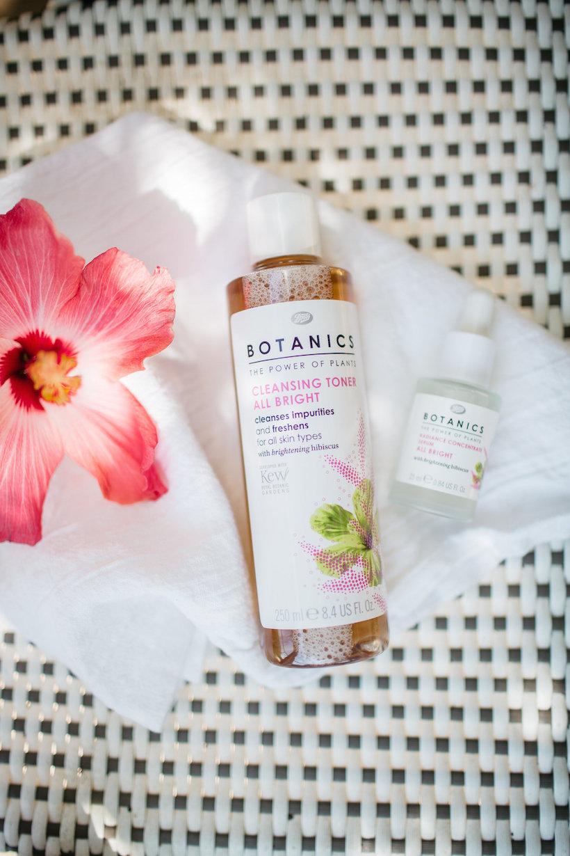 boots botanical-based skincare, hibiscus
