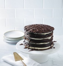 Black and White Pancake Cake