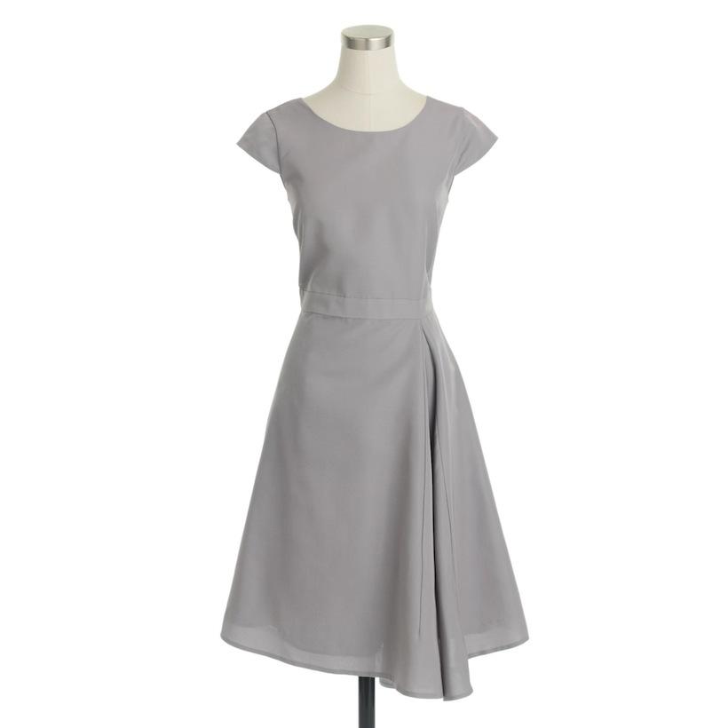 j crew grey dress