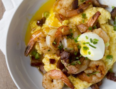 Juley Le recipe shrimp grits and soft egg
