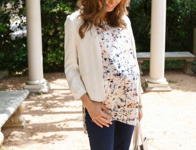 Spring Maternity Top & Jeans