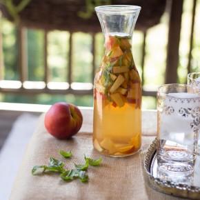 Peach Basil Sangria Pitcher