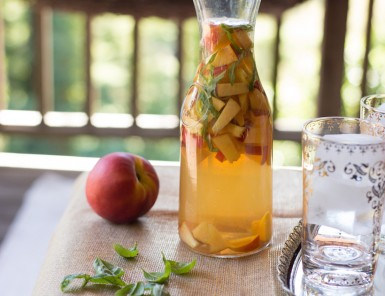 Peach Basil Sangria Pitcher