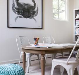 kid sized art table // modern kids playroom