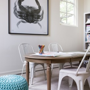 kid sized art table // modern kids playroom