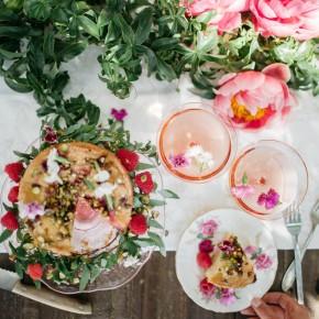 Raspberry & Pistachio Cake with Lemon Glaze Recipe
