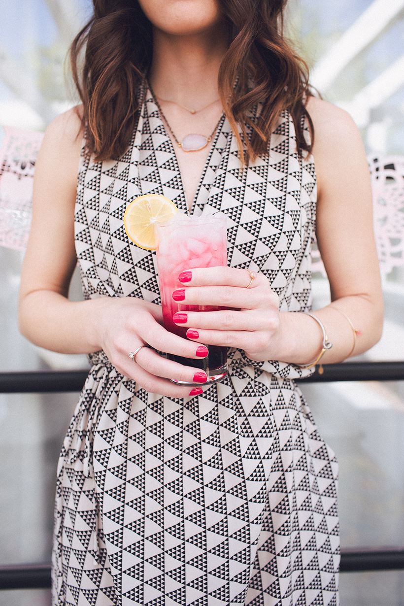 pink summer party drink