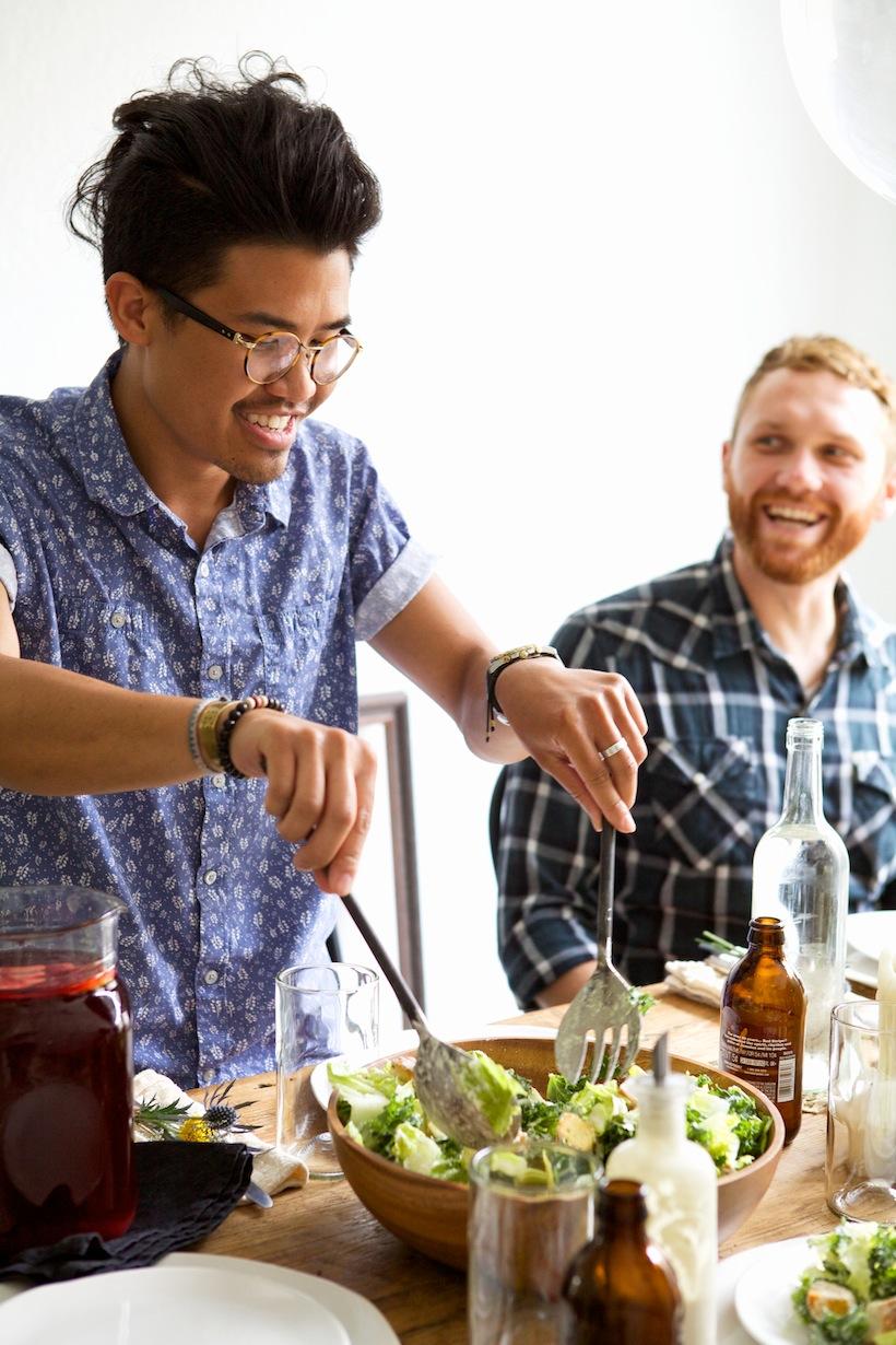 serving salad: Entertaining w/ Nikisha