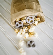 Yogurt-Covered Pretzels & Caramel Popcorn