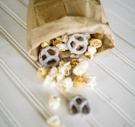 Yogurt-Covered Pretzels & Caramel Popcorn
