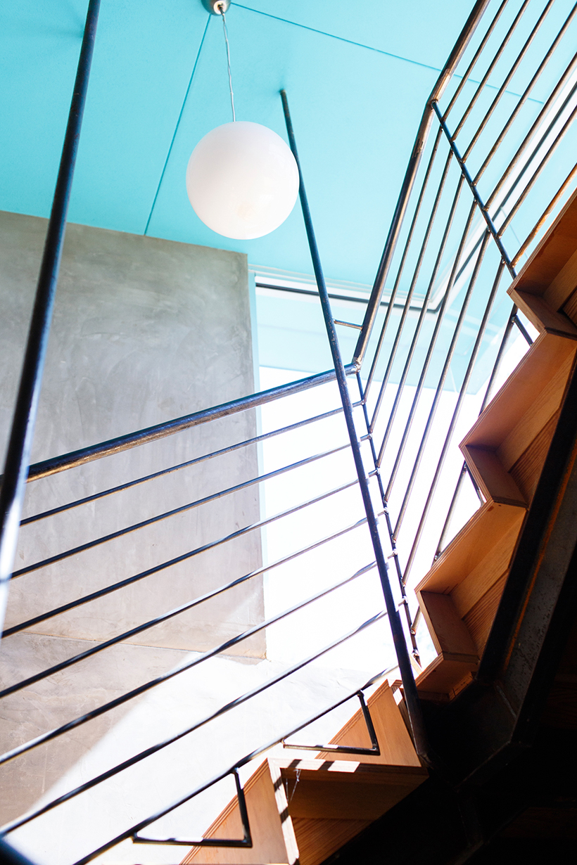 Aqua Staircase | Camille Styles