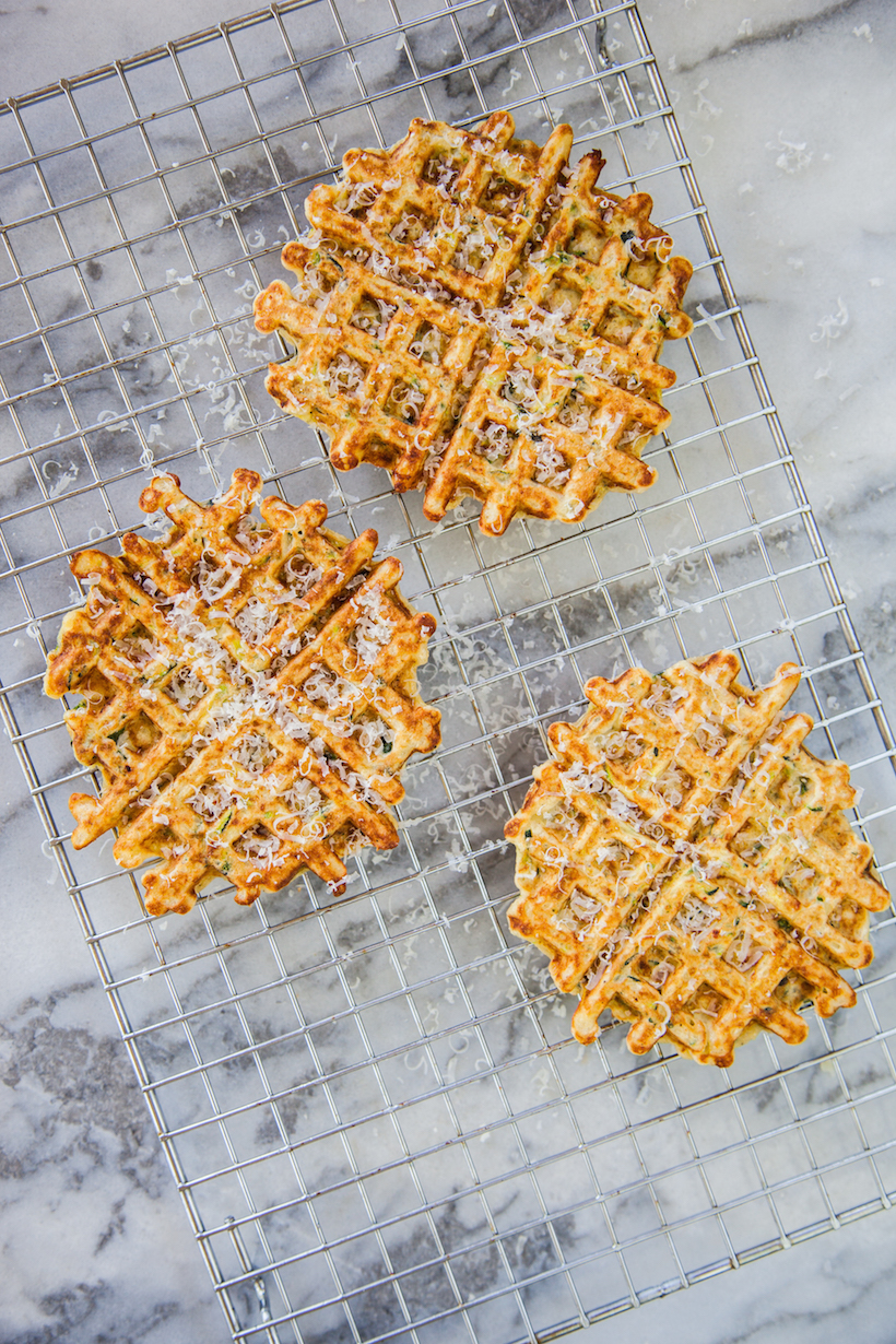 Market Fresh Zucchini Parmesan Waffles