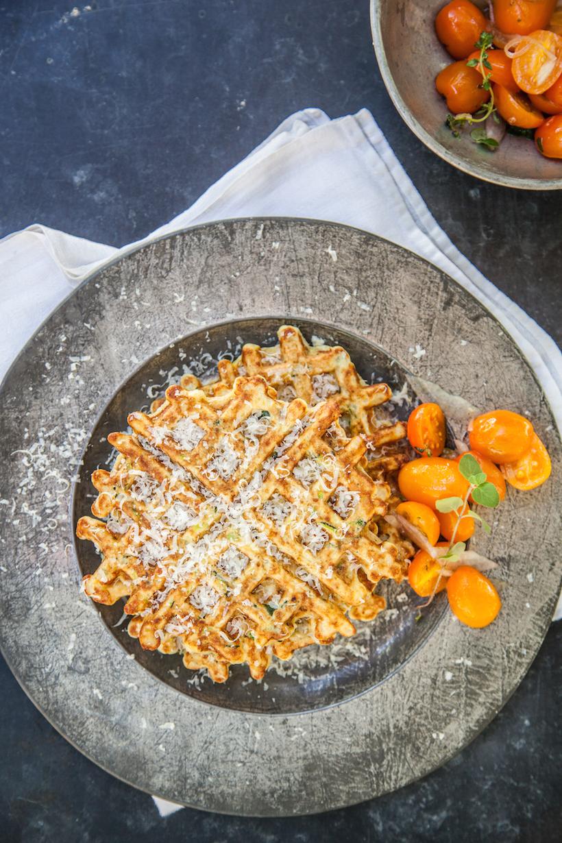 Savory Zucchini Waffles