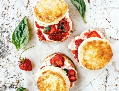 Strawberry Lime Basil Shortcakes / 15 Best Summery Strawberry Desserts