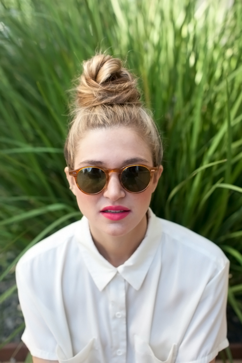 top knot hair style the perfectly top knot camille styles 5643