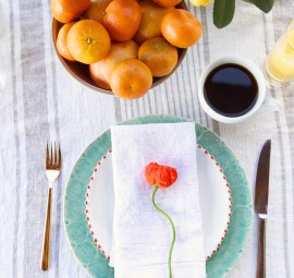 mothers day brunch // place setting with poppy