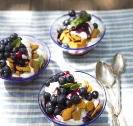 Blueberry, Ginger & Coconut Cream Parfait