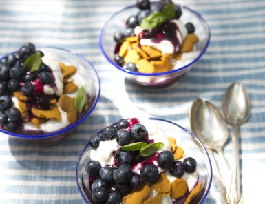 Blueberry, Ginger & Coconut Cream Parfait