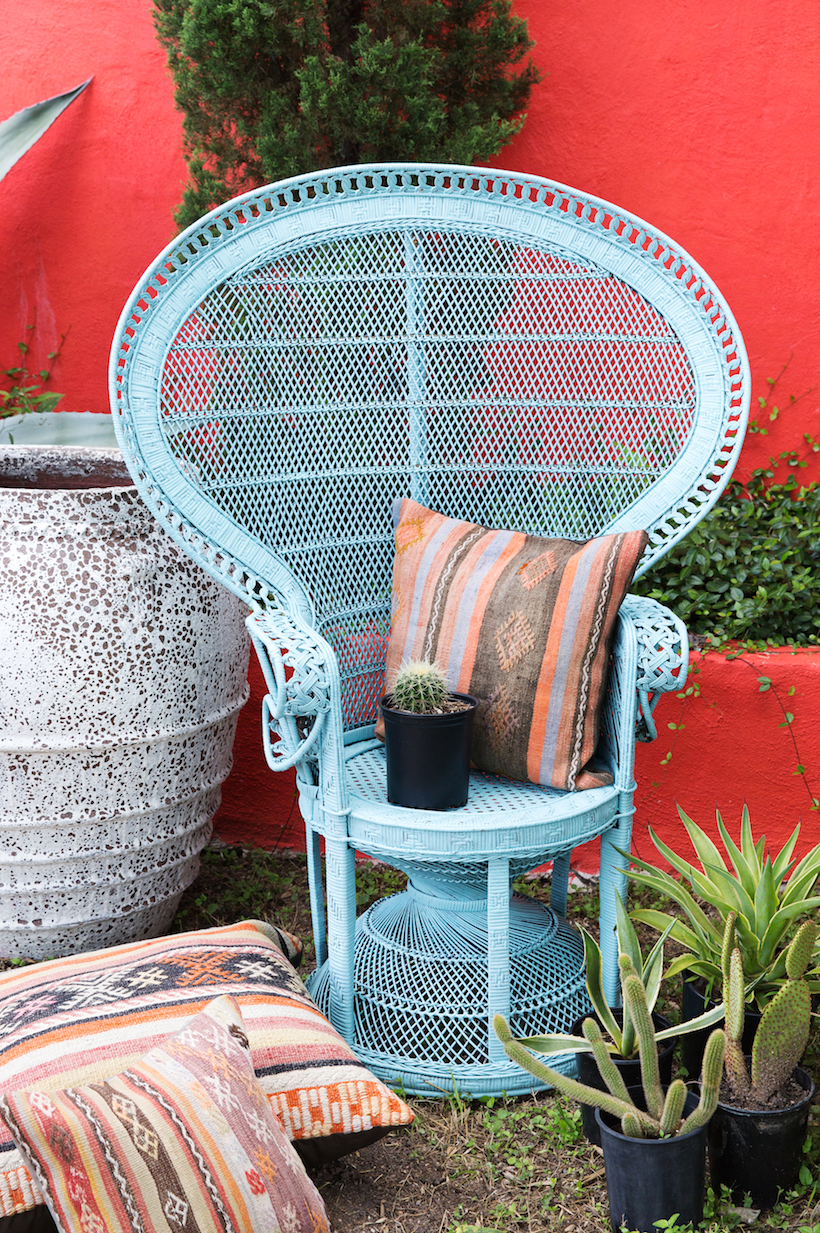 Peacock Chair Makeover - Camille Styles
