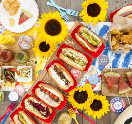 build your own hot dog spread