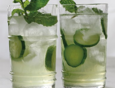 Cucumber Spritzer with Mint