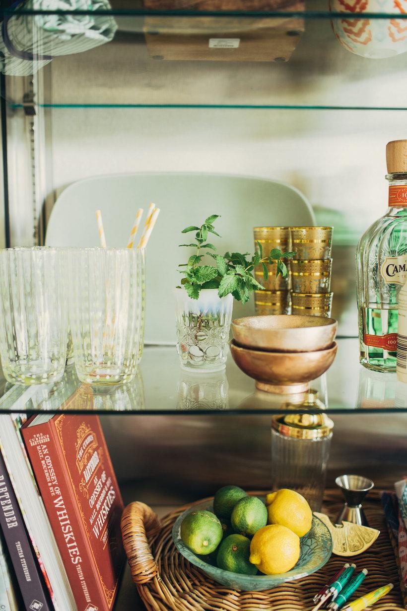 7 Tips for Styling a Summer Bar Cart