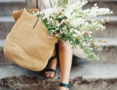 flowers & market bag