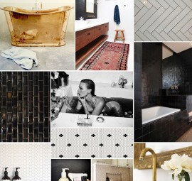 Luxe Bath Inspiration Board | Camille Styles