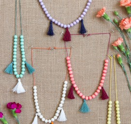 DIY Kids' Moroccan Tassel Necklace