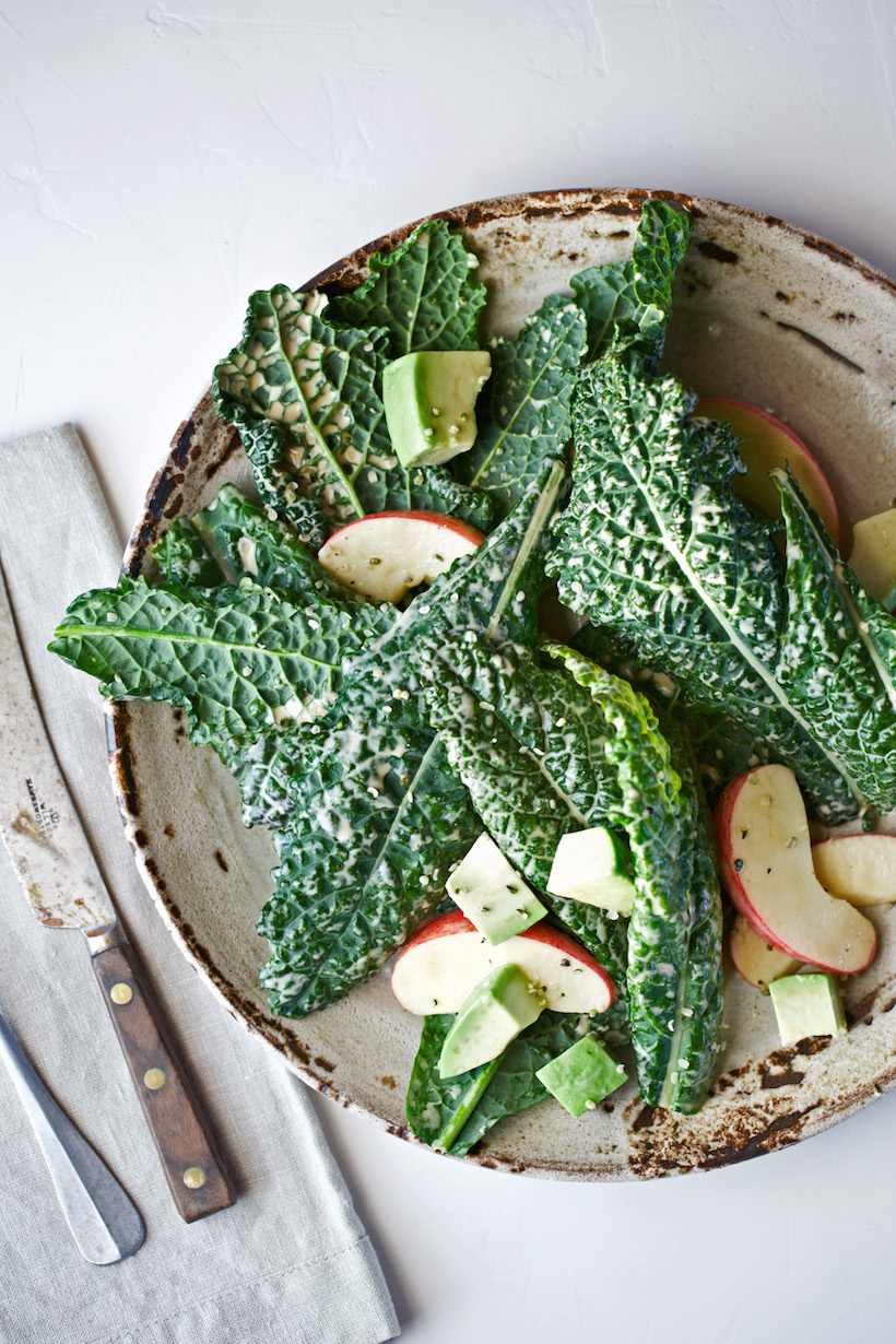 avocado kale caesar salad // summer salad