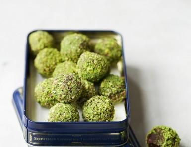 matcha chocolate truffles