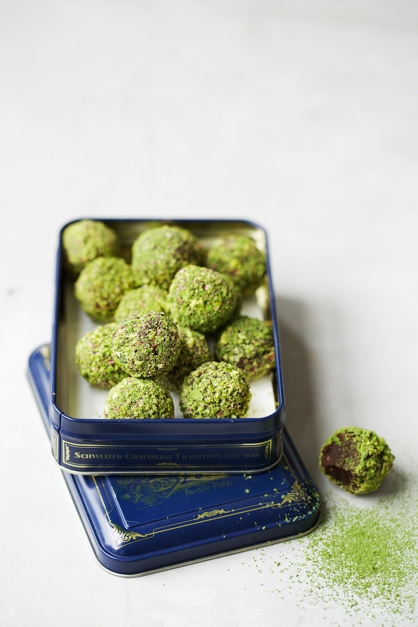 matcha // chocolate truffles