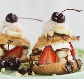 Banana Split Shortcake Recipe