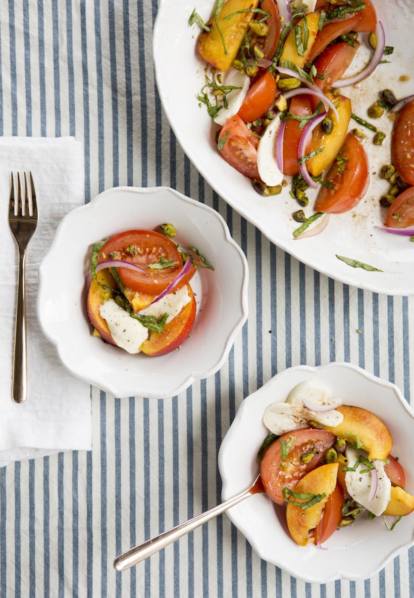 Nectarine, Tomato and Mozzarella Salad